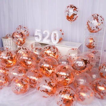 18pcs12inch white pink rose gold
