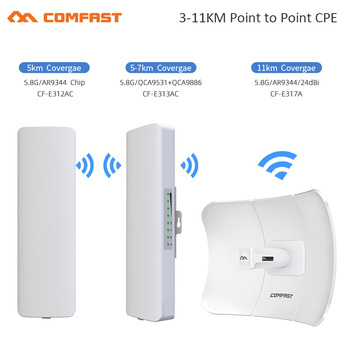 5-11KM 5 ghz tolimojo Lauko WIFI MEZON Wireless AP Bridge 300-900Mbps 5G
